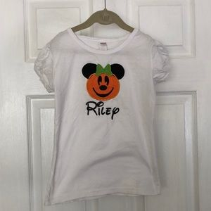 """Riley"" Minnie Mouse Halloween embroidered shirt"